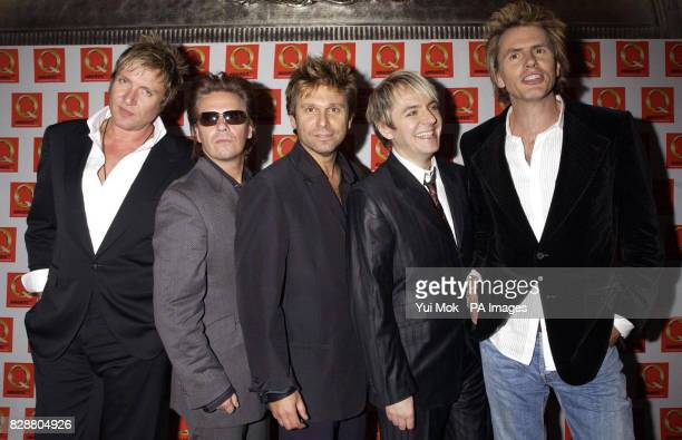 Duran Duran during the 2003 Q Awards at the Park Lane Hotel in central London The band received a Lifetime Achievement award at the annual bash...