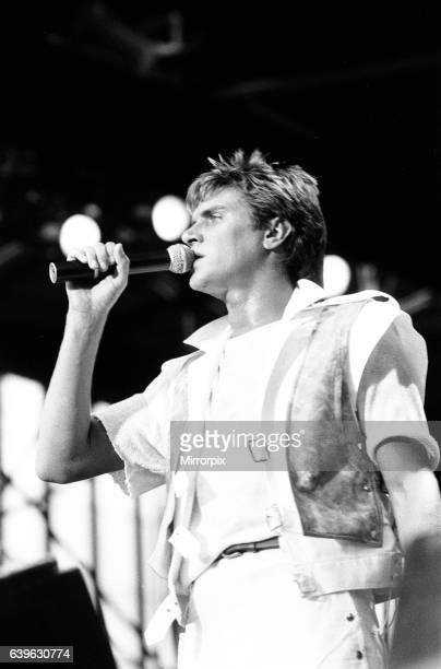 Duran Duran in Concert at Villa Park Birmingham Saturday 23rd July 1983 Simon Le Bon