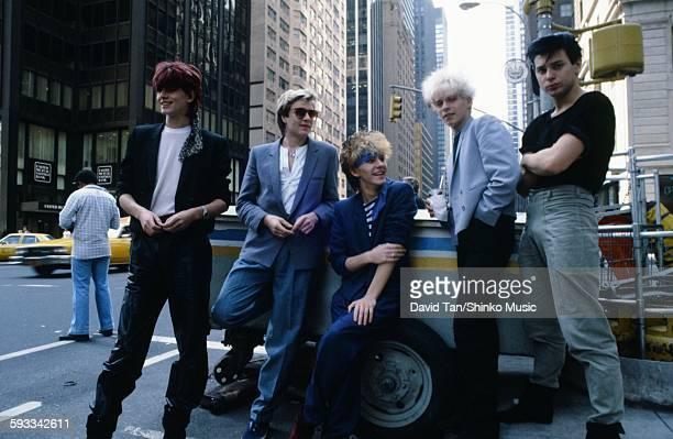 Duran Duran on a street corner in NYC NYC September 1981