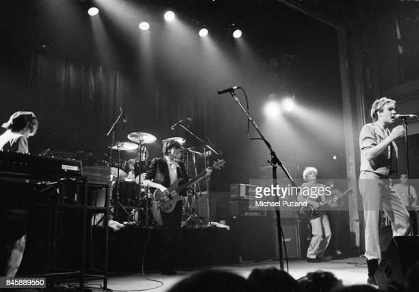 Duran Duran perform on stage New York 1981
