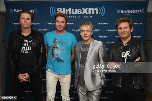 Duran Duran poses backstage for SiriusXM At The Faena Theater In Miami Beach During Art Basel on December 9 2017 in Miami Beach Florida