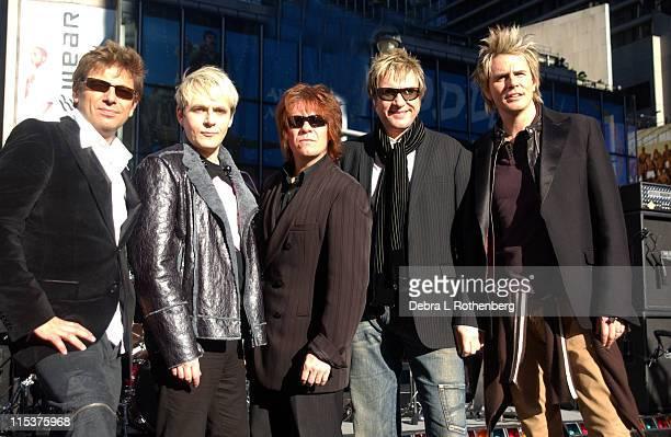 Duran Duran Roger Taylor Nick Rhodes Andy Taylor Simon Le Bon and John Taylor