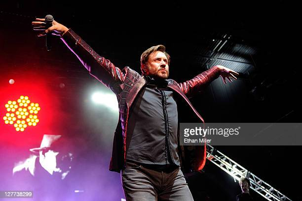 Duran Duran singer Simon Le Bon performs at The Joint inside the Hard Rock Hotel Casino as the band tours in support of the album 'All You Need Is...