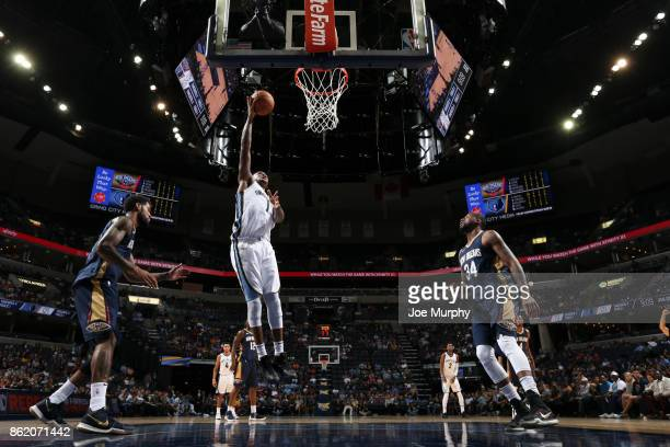 Durand Scott of the Memphis Grizzlies shoots the ball during a preseason game against the New Orleans Pelicans on October 13 2017 at FedExForum in...