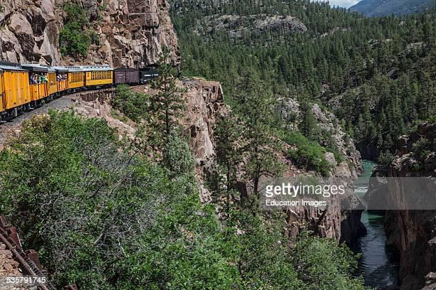Durango and Silverton Narrow Gauge Railroad Steam Engine Train ride Durango Colorado