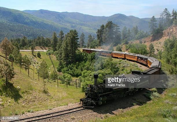 Durango Silverton line narrow gauge steam engine