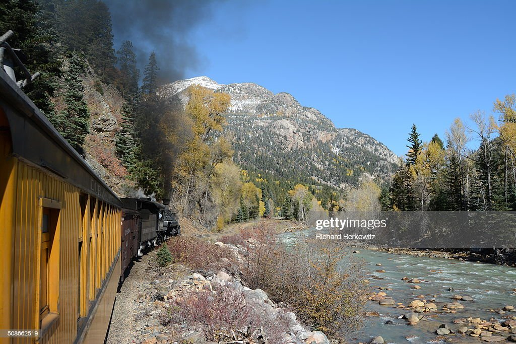 Durango Silverton RR Steam Train in the Colorado Rockies