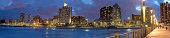 Durban city evening panorama