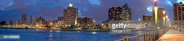 Durban city evening panorama