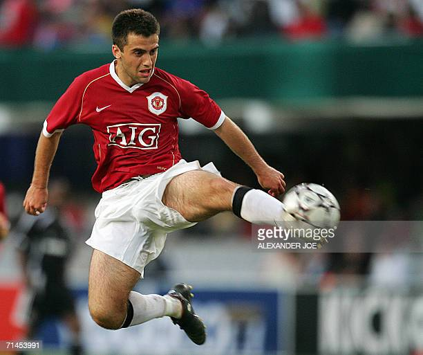 Manchester United player Striker Gluseppe Rossi gets the ball in mid air during a friendly match against South Africa's Orlando Pirates in Durban 15...
