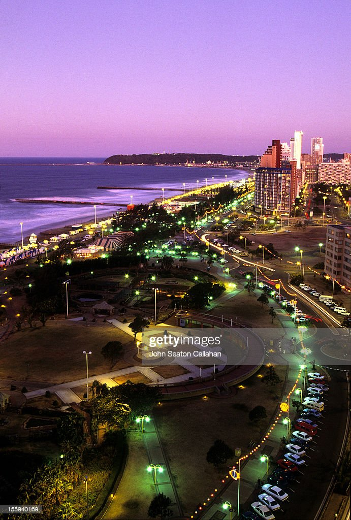 Durban, the Golden Mile beachfront.