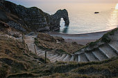 Durdle Door, Dorset just before sunset