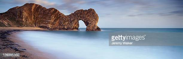 Durdle door, Dorset, at dusk.