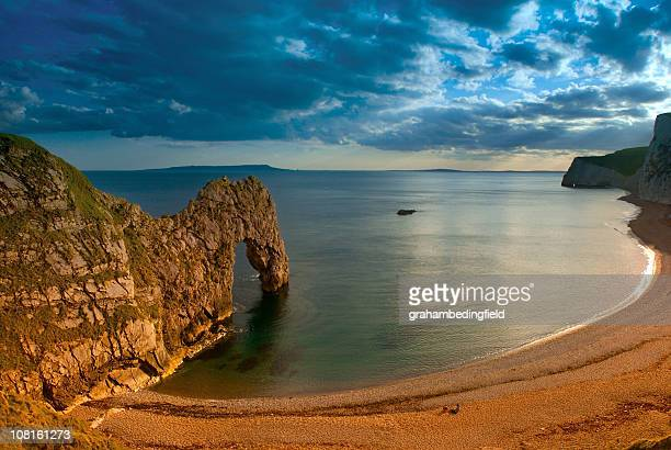 Durdle's Door Cove at Sunset