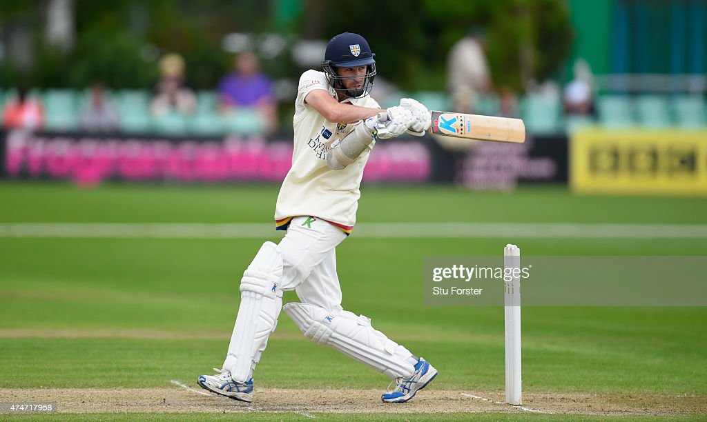 Durham batsman Graham Onions hits out during day two of the LV County Championship division one match between Worcestershire and Durham at New Road...
