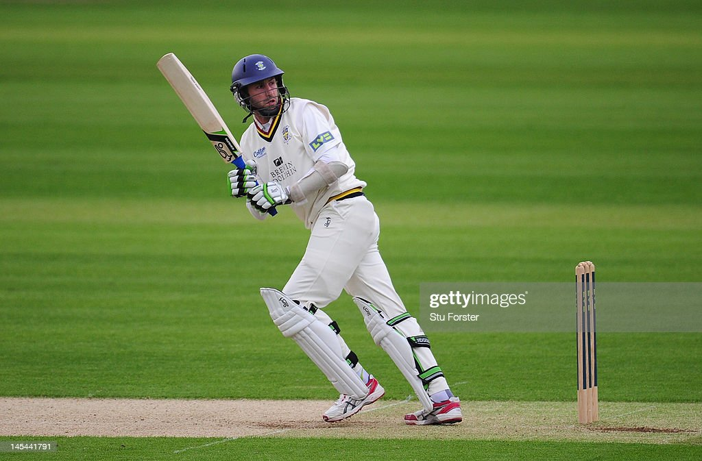 Durham batsman Graham Onions in action on his way to top scoring with just 25 runs during day one of the LV County Championship division one match...