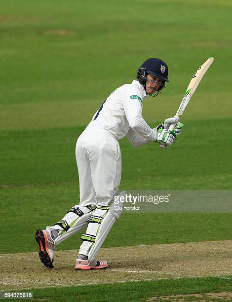 Durham batsman Keaton Jennings in action during day one of the Specsavers County Championship Division One match between Durham and Warwickshire at...