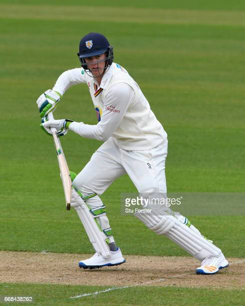 Durham batsman Keaton Jennings picks up some runs during day one of the Specsavers County Championship Division Two match between Durham and...