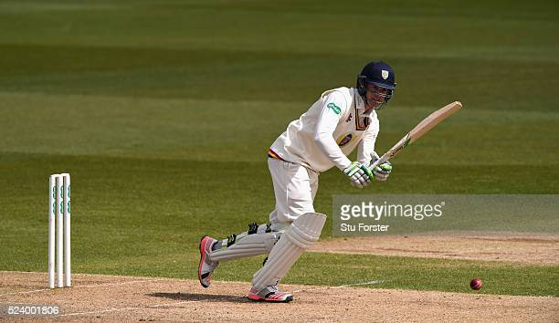 Durham batsman Keaton Jennings picks up some runs during day two of the Specsavers County Championship Division One match between Durham and...