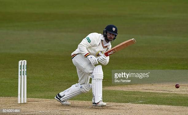 Durham batsman Mark Stoneman picks up some runs during day two of the Specsavers County Championship Division One match between Durham and Middlesex...