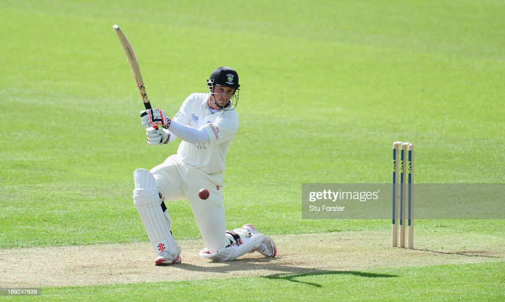 Durham batsman Phil Mustard in action during day one of the LV County Championship division One match between Durham and Middlesex at The Riverside...