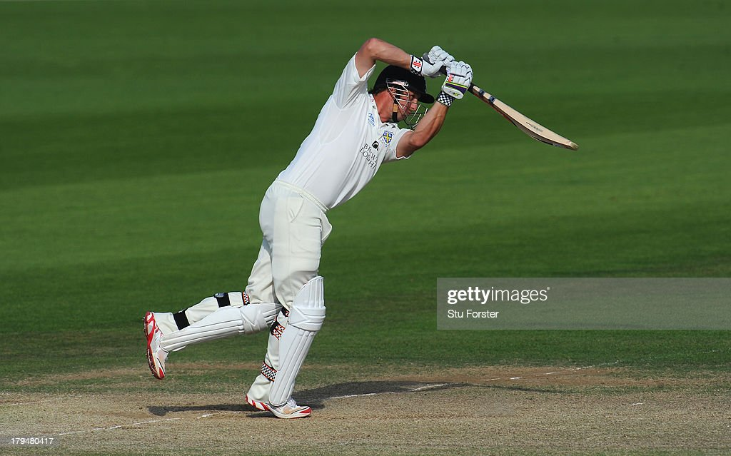 Durham batsman Phil Mustard in action during day two of the LV County Championship Division One match between Durham and Sussex at The Riverside on...