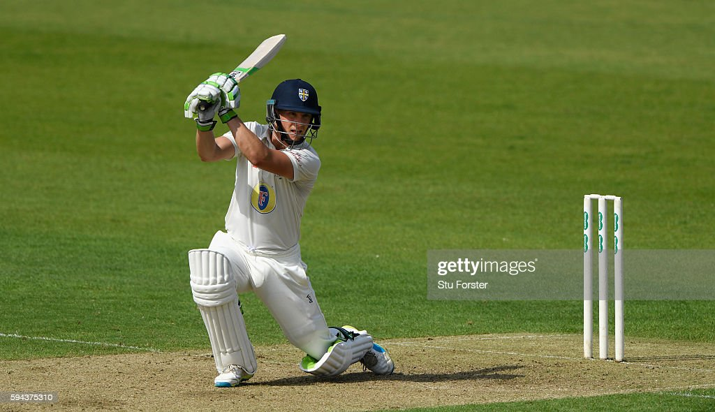 Durham batsman Scott Borthwick cover drives during day one of the Specsavers County Championship Division One match between Durham and Warwickshire...