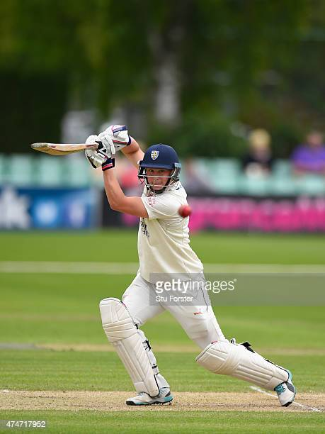 Durham batsman Scott Borthwick in action during day two of the LV County Championship division one match between Worcestershire and Durham at New...
