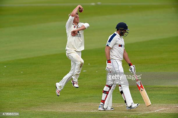 Durham bowler Scott Borthwick in action during day two of the LV County Championship Division One match between Durham and Yorkshire at Emirates...