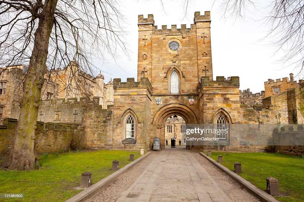 Durham Castle Gate : Stock Photo