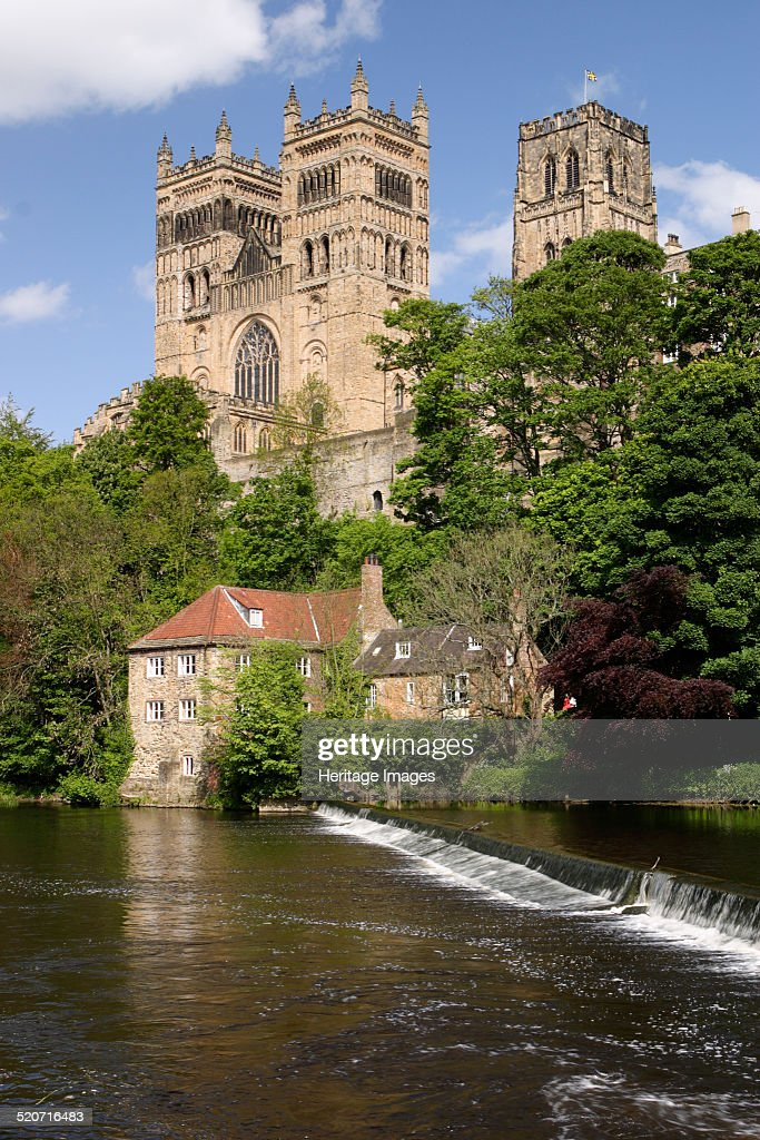 Durham Cathedral and Mill Durham Cathedral overlooking the River Wear was begun in 1093 The cathedral was a medieval site of pilgrimage due to the...
