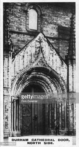 Durham Cathedral door north side c1920s The cathedral dates from 1093 AD Cigarette card produced by the Westminster Tobacco Co Ltd The second series...