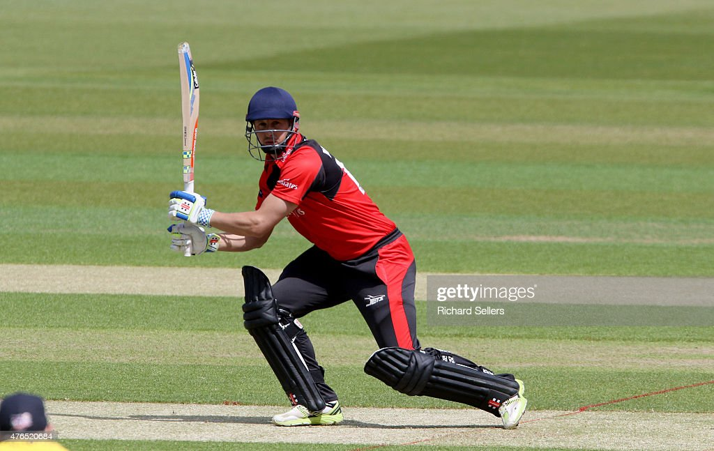 Durham Jets Phil Mustard in action during the NatWest T20 Blast between Durham Jets and Birmingham Bears at Emirates Durham ICG on June 06 2015 in...