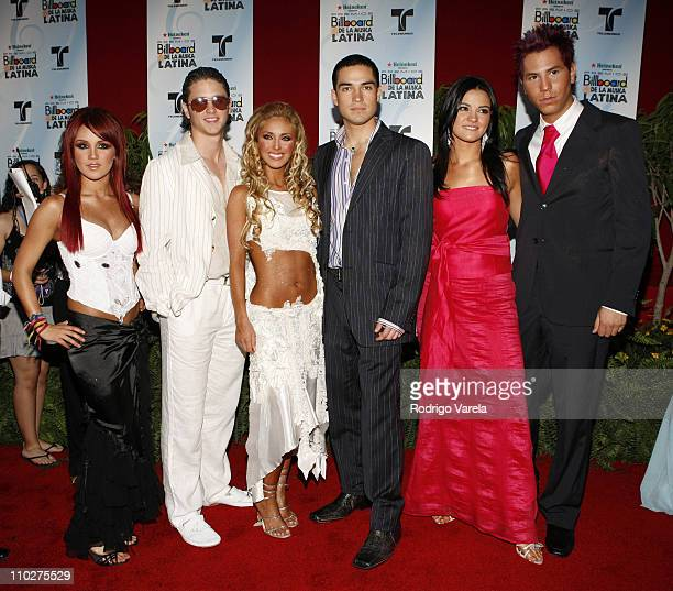 RBD during 2006 Billboard Latin Music Conference and Awards Arrivals at Seminole Hard Rock Hotel and Casino in Hollywood Florida United States