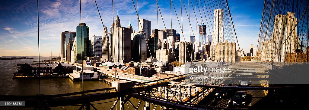 CONTENT] During a holiday s week (2011, 2 December) in New York City (United States, USA), I took this picture of Manhattan from the Brooklyn bridge. It was a great view with the blue sky and the reflection of the sunlight on the Wall street buildings. You can see many symbols of New York City on this picture like the Brooklyn bridge, the skyscrapers and wall street buildings, the One World Trade Center (1 WTC) in construction, the Franklin D. Roosevelt East River Drive (FDR), the East River and the Pier 11 and 17 (Fulton Ferry does the way between Wall street and Brooklyn bridge park).New York City exerts a significant impact upon global commerce, finance, media, art, fashion, research, technology, education, and entertainment. And, of course, it's a great tourist place!