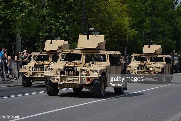 HMMWV durante uma Parada Militar marcação forças armadas polacas dia