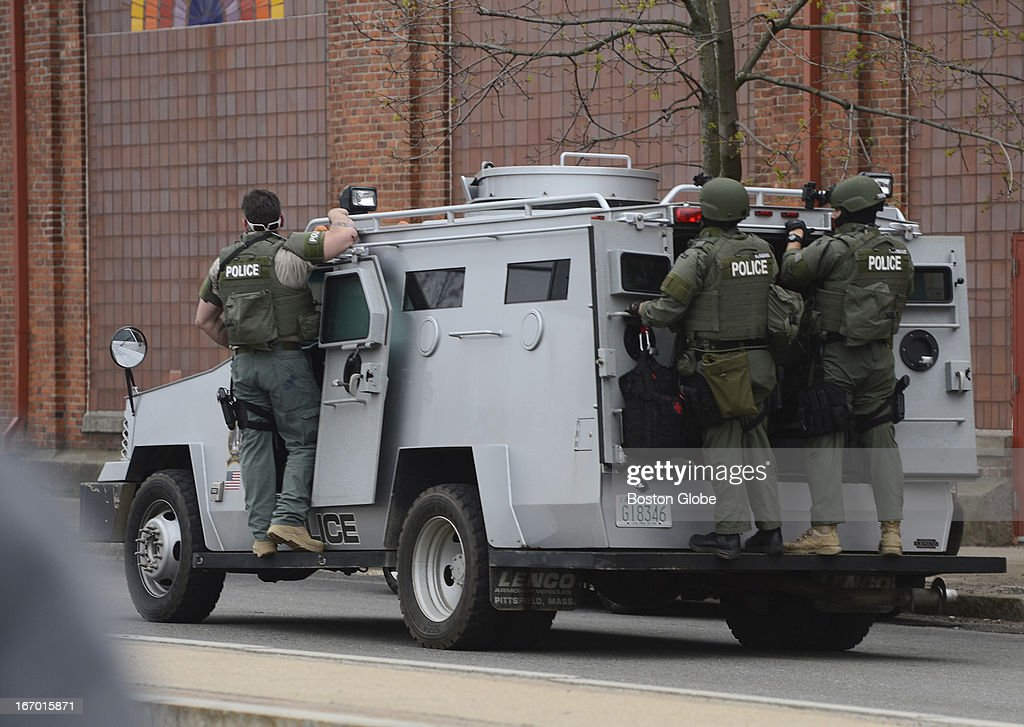 During a press conference at Watertown Mall members of the media were told tactical units would be pulled out of Watertown after having failed to...