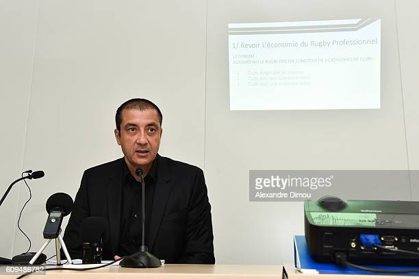during a press conference of the president of Rc Toulon for the presidence at the Rubgby League on September 21 2016 in Toulon France