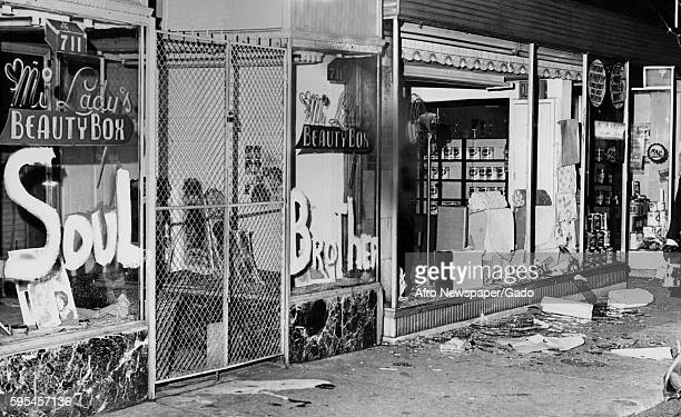 During a racial riot in Baltimore Maryland a beauty salon on Gay Street was saved from destruction when its owner painted the code words 'Soul...