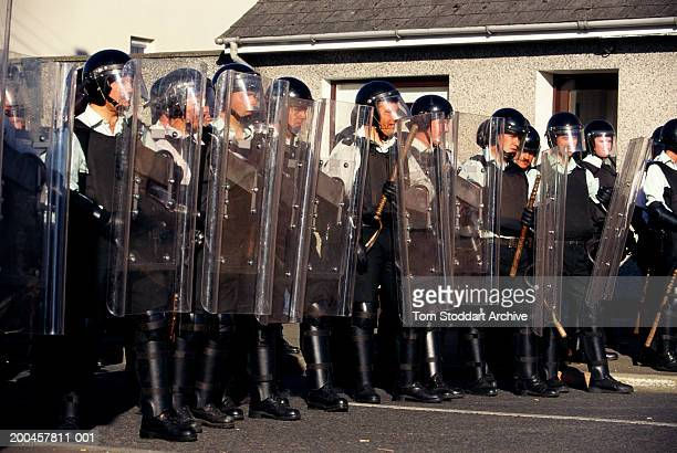 During a stand off between catholics and protestants during the annual marching season