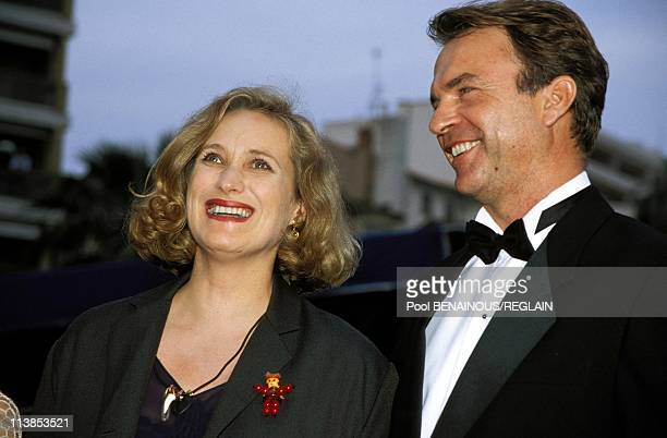 During Cannes Film Festival presentation of the film 'The Piano' with director Jane Campion and actor Sam Neill in Cannes France on May 17 1993 Jane...