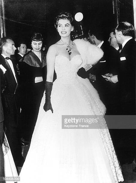 During Cannes Film Festival the Italian actress Sophia LOREN arrived at the Ambassadeurs for a reception The 8th Film Festival of Cannes opened that...