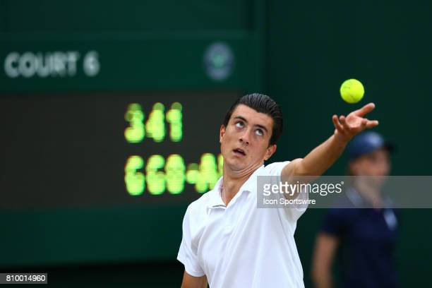 during day four match of the 2017 Wimbledon on July 6 at All England Lawn Tennis and Croquet Club in London England