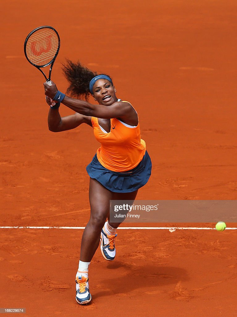 during day four of the Mutua Madrid Open tennis tournament at the Caja Magica on May 7, 2013 in Madrid, Spain.