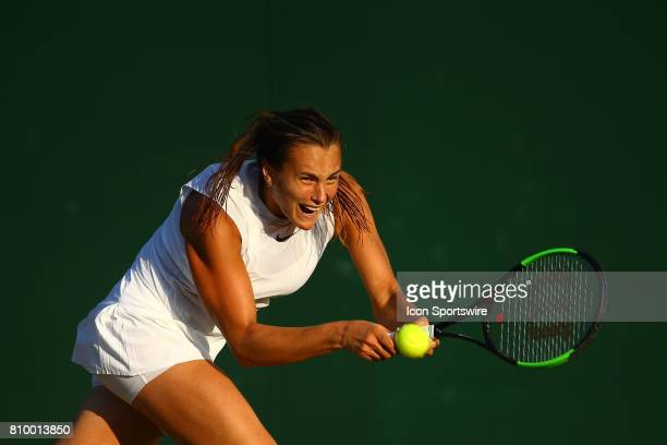 during day three match of the 2017 Wimbledon on July 5 at All England Lawn Tennis and Croquet Club in London England