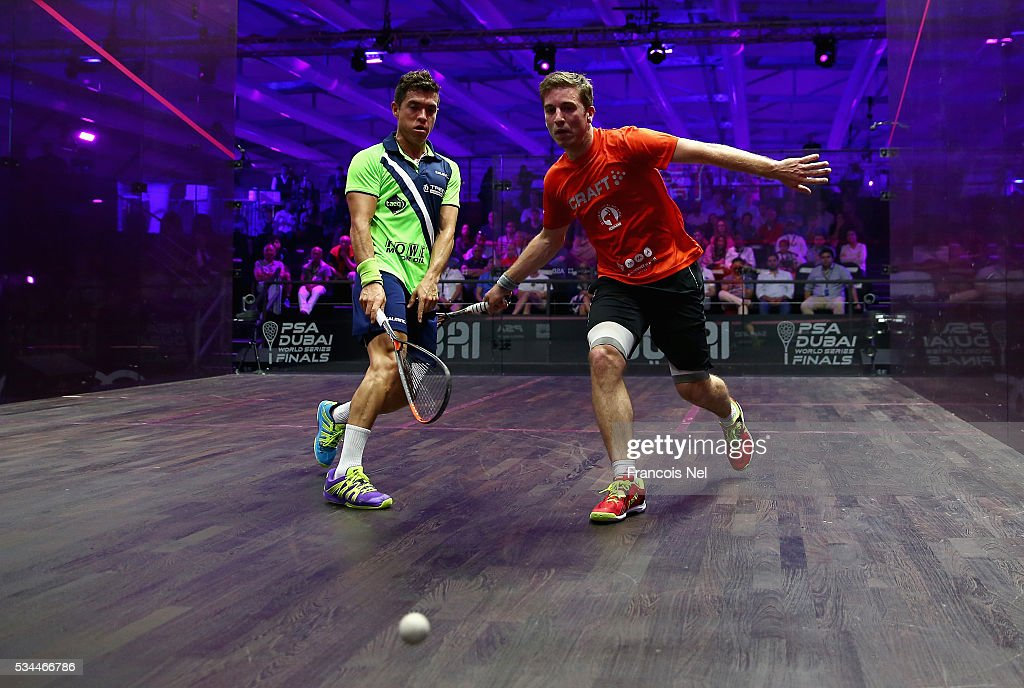 during day three of the PSA Dubai World Series Finals 2016 at Burj Park on May 26, 2016 in Dubai, United Arab Emirates.