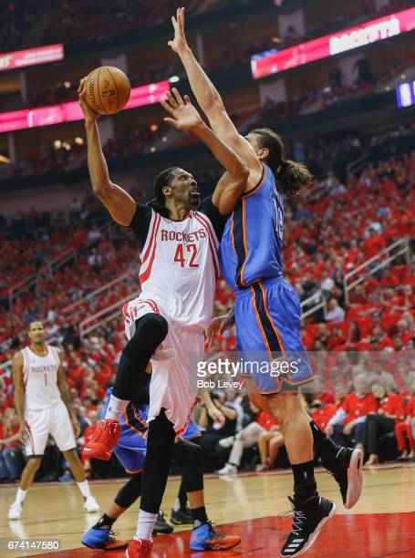 during Game Five of the Western Conference Quarterfinals game of the 2017 NBA Playoffs at Toyota Center on April 25 2017 in Houston Texas NOTE TO...
