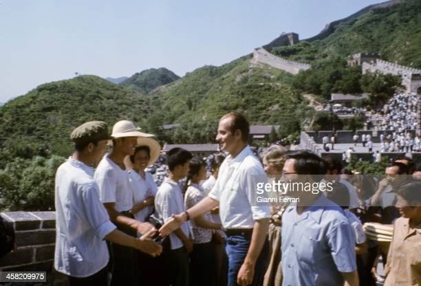 During his official visit to China the Spanish King Juan Carlos visit the Great Wall Beijing China
