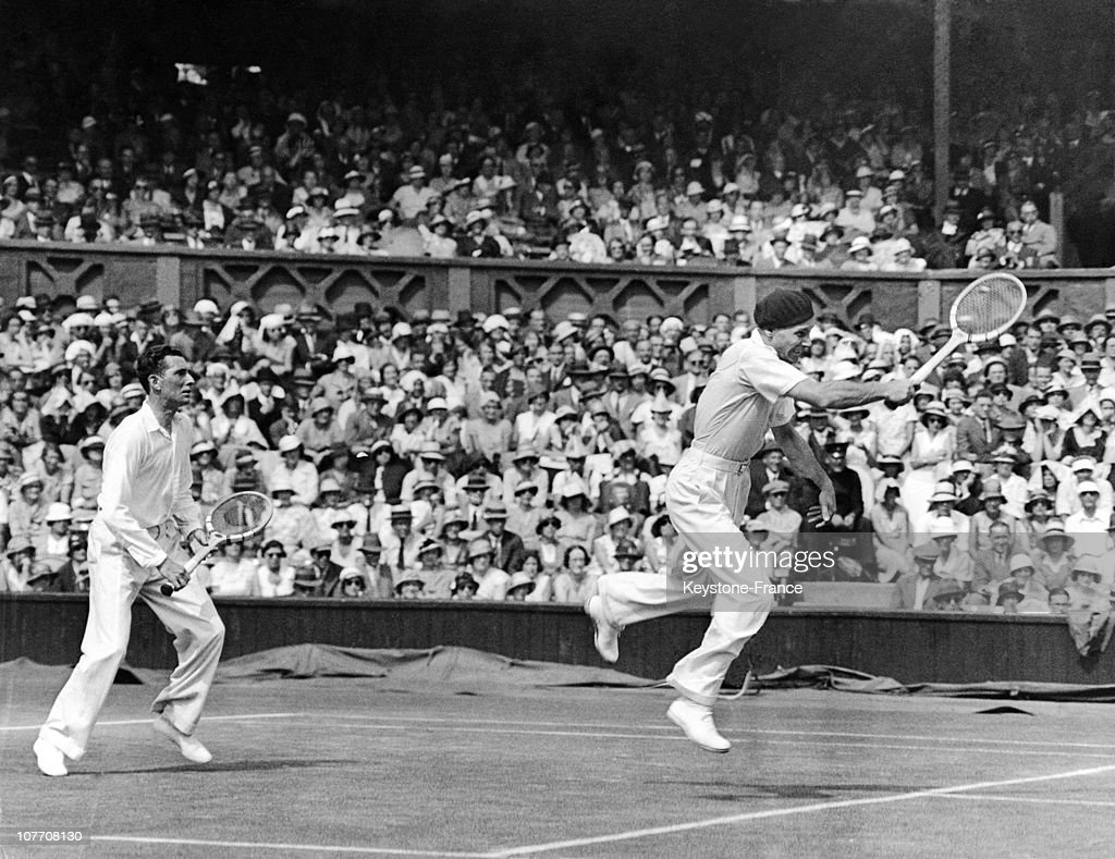 Jacques Brugnon And Jean Borotra At Wimbledon In 1933