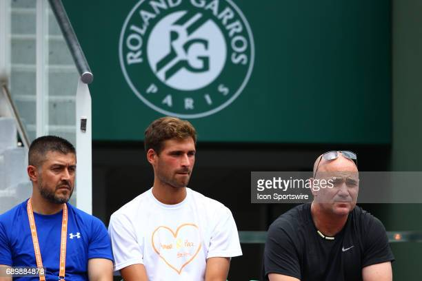 during NOVAK DJOKOVIC day two match of the 2017 French Open on May 29 at Stade RolandGarros in Paris France
